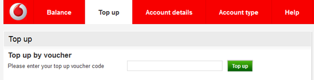 Account top up