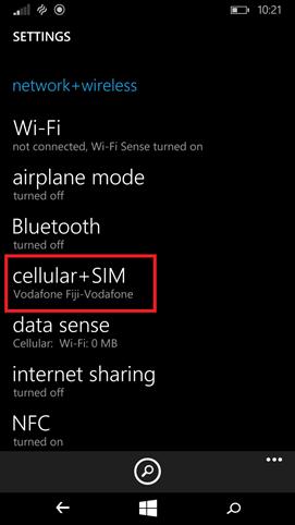 cellular SIM