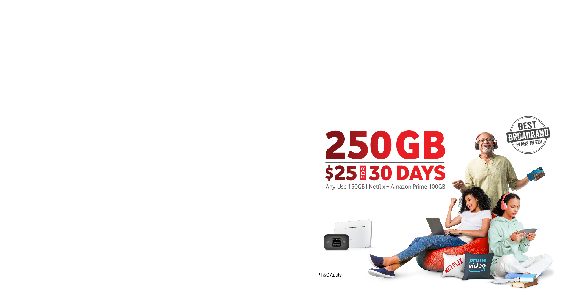 250GB - $25 for 30 Days